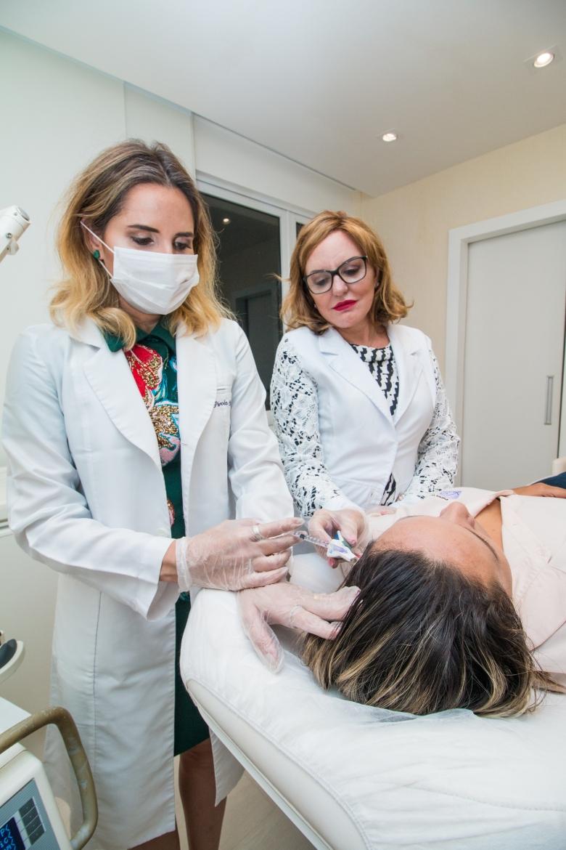 Aplicação intradermoterapia